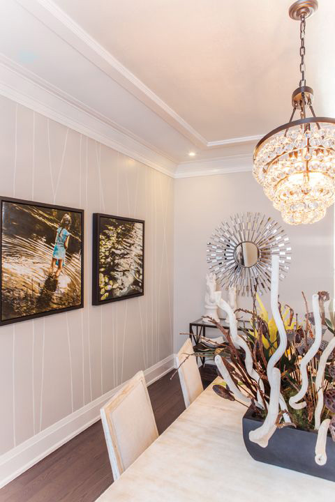 Trim - Interior with high quality wood mouldings at Designer Showcase