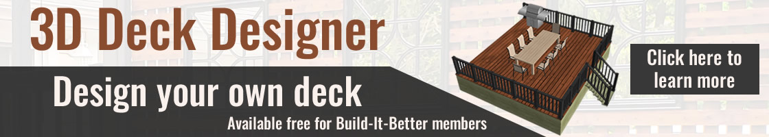 3d Deck Designer - Design your own deck for Build it Builder members. Designer Showcase powered by Turkstra Lumber.