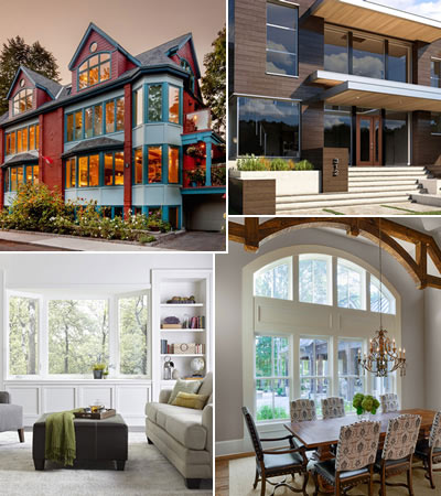 Windows - products complete selection of standard and fully custom windows from DEL, OSTACO and JELD-WEN at Designer Showcase.