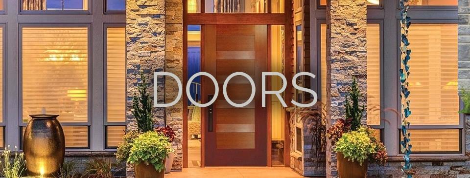 Doors - interior doors on display: raised-panel doors, shaker style doors, French doors, barn doors at Designer Showcase by Turkstra Lumber.